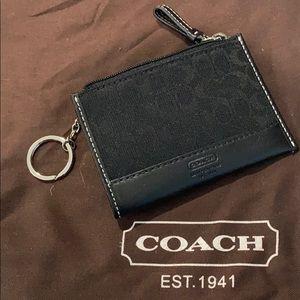 Coach black monogram mini skinny
